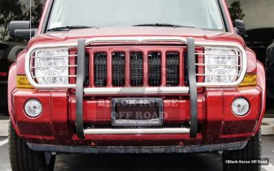Grilles - Grille Guard - Black Horse - Jeep Grand Cherokee Black Horse Push Bar Guard