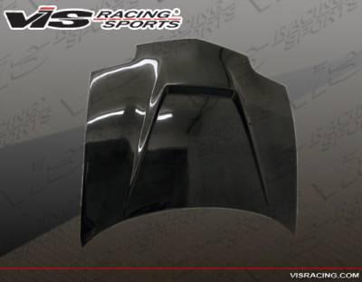 Sunfire - Hoods - VIS Racing - Pontiac Sunfire VIS Racing Invader Black Carbon Fiber Hood - 95PTSUN2DVS-010C