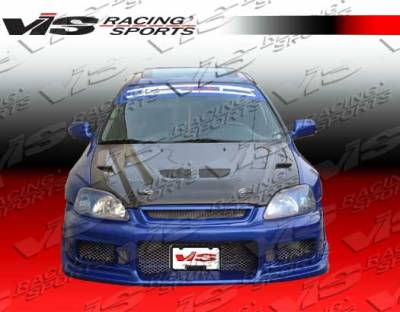 Civic 2Dr - Hoods - VIS Racing - Honda Civic 2DR VIS Racing EVO Black Carbon Fiber Hood - 96HDCVC2DEV-010C