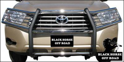 Grilles - Grille Guard - Black Horse - Toyota Highlander Black Horse Push Bar Guard