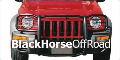 Grilles - Grille Guard - Black Horse - Jeep Liberty Black Horse Push Bar Guard