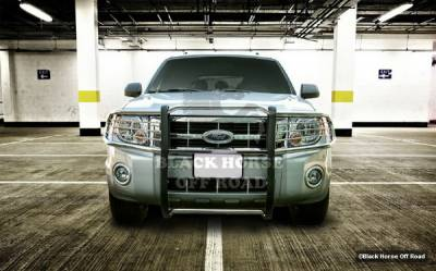 Grilles - Grille Guard - Black Horse - Mercury Mariner Black Horse Modular Push Bar Guard