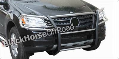 Grilles - Grille Guard - Black Horse - Mercedes-Benz ML Black Horse Modular Push Bar Guard