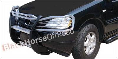 Grilles - Grille Guard - Black Horse - Mercedes-Benz ML Black Horse Push Bar Guard