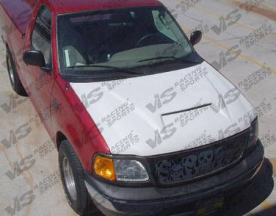 Expedition - Hoods - VIS Racing - Ford Expedition VIS Racing Fiberglass Outlaw Type 1 Hood - 97FDEXP4DOL1-010