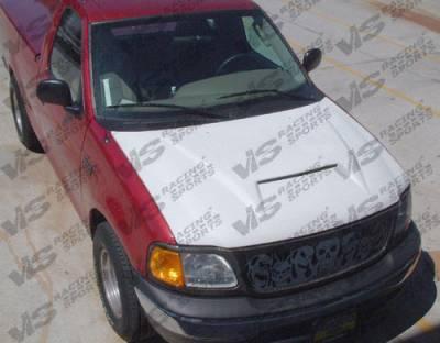 F150 - Hoods - VIS Racing - Ford F150 VIS Racing Fiberglass Outlaw Type 1 Hood - 97FDF152DOL1-010