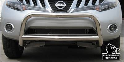 Grilles - Grille Guard - Black Horse - Nissan Murano Black Horse Bull Bar Guard