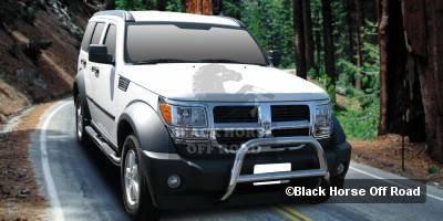 Grilles - Grille Guard - Black Horse - Dodge Nitro Black Horse Bull Bar Guard