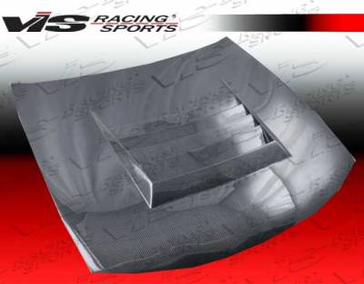 240SX - Hoods - VIS Racing - Nissan 240SX VIS Racing Drift Black Carbon Fiber Hood - 97NS2402DDFT-010C