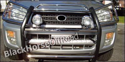 Grilles - Grille Guard - Black Horse - Toyota Rav 4 Black Horse Push Bar Guard
