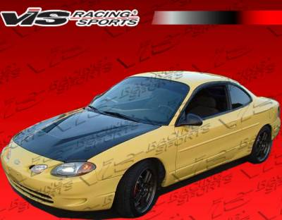 ZX2 - Hoods - VIS Racing. - Ford ZX2 VIS Racing Invader Black Carbon Fiber Hood - 98FDZX22DVS-010C