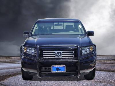 Grilles - Grille Guard - Black Horse - Honda Ridgeline Black Horse Push Bar Guard