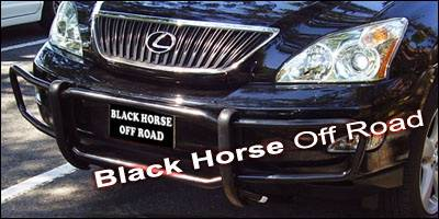 Grilles - Grille Guard - Black Horse - Lexus RX Black Horse Front Runner Guard