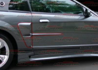 Mustang - Body Kit Accessories - AIT Racing - Ford Mustang AIT Racing Stallion-2 Style Side Scoops - FM99HISTASCP