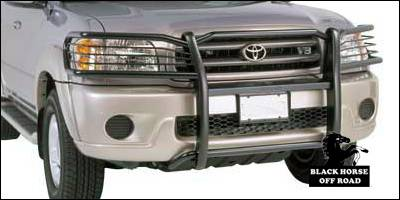 Grilles - Grille Guard - Black Horse - Toyota Sequoia Black Horse Push Bar Guard