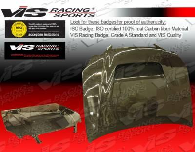 GS - Hoods - VIS Racing - Lexus GS VIS Racing V Line Black Carbon Fiber Hood - 98LXGS34DVL-010C