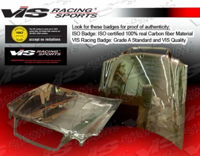 CLK - Hoods - VIS Racing - Mercedes-Benz CLK VIS Racing OEM Black Carbon Fiber Hood - 98MEW2082DOE-010C