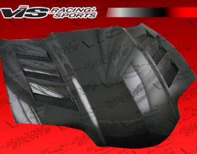 Firebird - Hoods - VIS Racing. - Pontiac Firebird VIS Racing AMS Black Carbon Fiber Hood - 98PTFIR2DAMS-010C