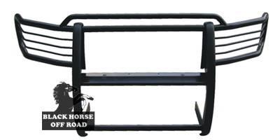 Grilles - Grille Guard - Black Horse - GMC Sierra Black Horse Modular Push Bar Guard