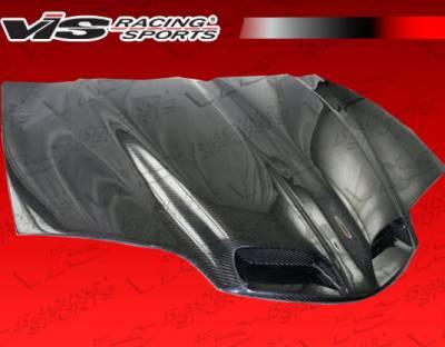 Firebird - Hoods - VIS Racing - Pontiac Firebird VIS Racing GTO Black Carbon Fiber Hood - 98PTFIR2DGTO-010C