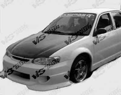 Corolla - Hoods - VIS Racing - Toyota Corolla VIS Racing OEM Black Carbon Fiber Hood - 98TYCOR4DOE-010C