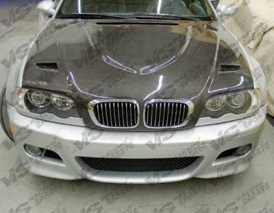 3 Series 4Dr - Hoods - VIS Racing - BMW 3 Series 4DR VIS Racing Euro R Black Carbon Fiber Hood - 99BME464DEUR-010C