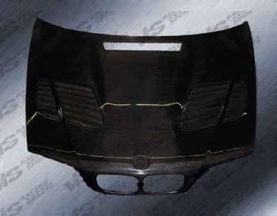 3 Series 4Dr - Hoods - VIS Racing - BMW 3 Series 4DR VIS Racing GTR Black Carbon Fiber Hood - 99BME464DGTR-010C