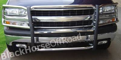 Grilles - Grille Guard - Black Horse - Chevrolet Suburban Black Horse Push Bar Guard