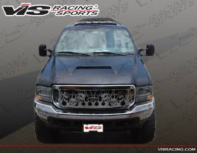 F250 - Hoods - VIS Racing - Ford F250 VIS Racing Fiberglass Outlaw Type 1 Hood - 99FDF252DOL1-010