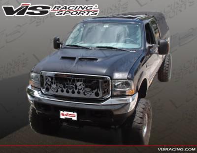 F250 - Hoods - VIS Racing - Ford F250 VIS Racing Fiberglass Outlaw Type 2 Hood - 99FDF252DOL2-010
