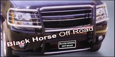 Grilles - Grille Guard - Black Horse - Chevrolet Tahoe Black Horse Push Bar Guard