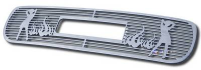 Grilles - Custom Fit Grilles - APS - GMC Sierra APS Symbolic Grille - with Logo Opening - Upper - Aluminum - G25703B