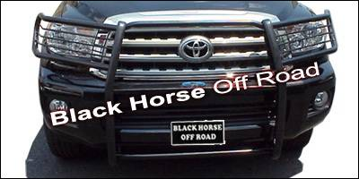 Grilles - Grille Guard - Black Horse - Toyota Tundra Black Horse Push Bar Guard