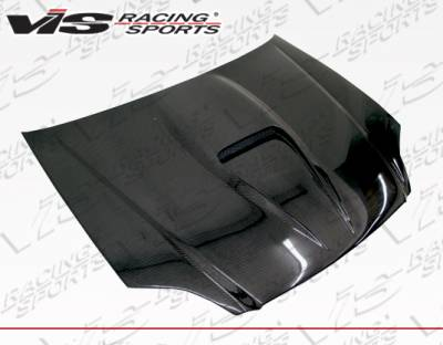 Civic 2Dr - Hoods - VIS Racing - Honda Civic VIS Racing G-Force Carbon Fiber Hood - 99HDCVC2DGF-010C