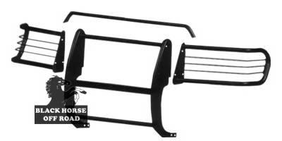 Grilles - Grille Guard - Black Horse - GMC Yukon Black Horse Modular Push Bar Guard