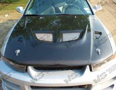 Galant - Hoods - VIS Racing - Mitsubishi Galant VIS Racing EVO Black Carbon Fiber Hood - 99MTGAL4DEV-010C