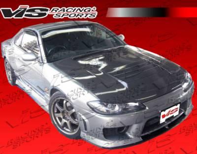 Silvia - Hoods - VIS Racing - Nissan Silvia VIS Racing Drift Black Carbon Fiber Hood - 99NSS152DDFT-010C