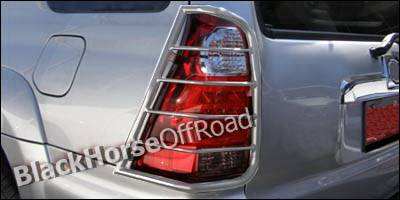 Headlights & Tail Lights - Tail Light Covers - Black Horse - Toyota 4Runner Black Horse Taillight Guards