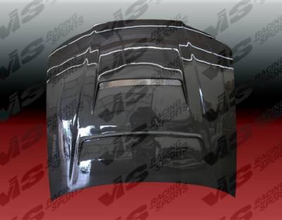 Silvia - Hoods - VIS Racing - Nissan Silvia VIS Racing Tracer Black Carbon Fiber Hood - 99NSS152DTRA-010C