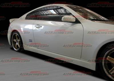 G35 2Dr - Side Skirts - AIT Racing - Infiniti G35 AIT Racing Spec-I Style Side Skirts - G3503HIINGSS2