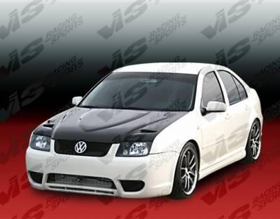 Jetta - Hoods - VIS Racing - Volkswagen Jetta VIS Racing Euro R Black Carbon Fiber Hood - 99VWJET4DEUR-010C