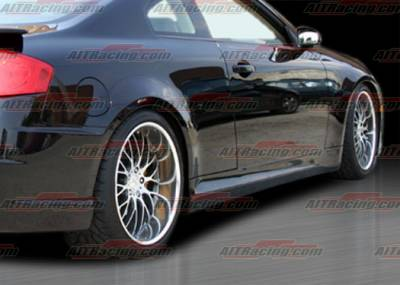 G35 2Dr - Side Skirts - AIT Racing - Infiniti G35 2DR AIT Racing Spec-K Style Side Skirts - G3503HIKENSS