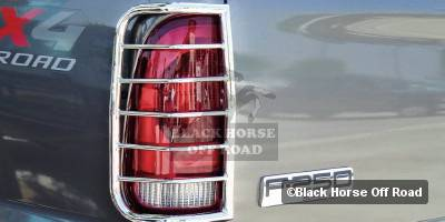 Headlights & Tail Lights - Tail Light Covers - Black Horse - Ford F450 Black Horse Taillight Guards