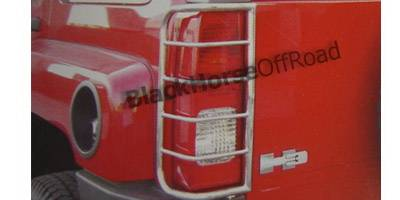 Headlights & Tail Lights - Tail Light Covers - Black Horse - Hummer H3 Black Horse Taillight Guards