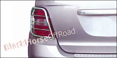 Headlights & Tail Lights - Tail Light Covers - Black Horse - Mercedes-Benz ML Black Horse Taillight Guards