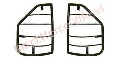 Headlights & Tail Lights - Tail Light Covers - Black Horse - Mitsubishi Montero Black Horse Taillight Guards
