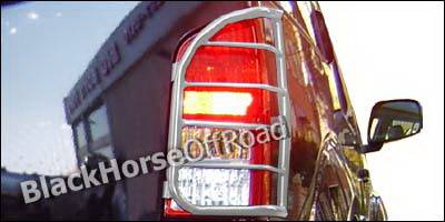 Headlights & Tail Lights - Tail Light Covers - Black Horse - Nissan Pathfinder Black Horse Taillight Guards