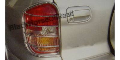 Headlights & Tail Lights - Tail Light Covers - Black Horse - Toyota Rav 4 Black Horse Taillight Guards