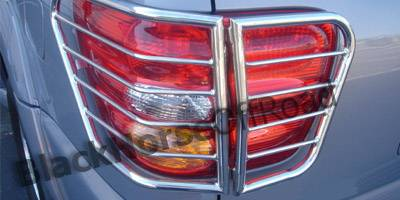 Headlights & Tail Lights - Tail Light Covers - Black Horse - Toyota Sequoia Black Horse Taillight Guards