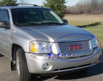Grilles - Custom Fit Grilles - APS - GMC Envoy APS Punch Grille - Stainless Steel - G45330O
